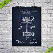 1878 thomas edison phonograph patent poster patent art print