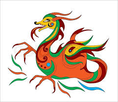 funny chinese dragon symbol calendar 2012 stock vector