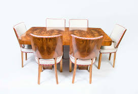 fine dining art deco dining table 6 chairs regent antiques 06326 antique art deco walnut dining table