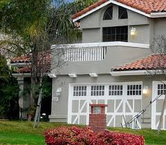 beautiful house with gray color wall and red roof google search