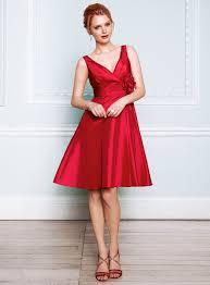red taffeta bridesmaid dress ipunya
