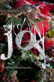 Letter Decorations For Christmas Tree by Celebrate Creativity