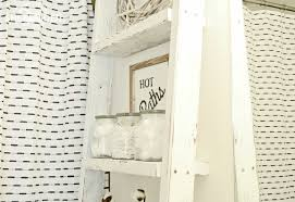 ana white above toilet storage ladder diy projects