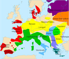 Map Central Europe by Europe Neolithic Map Showing Distribution Of Some Of The Main