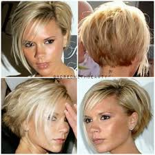 short hair layered and curls up in back what to do with the sides unique haircuts victoria beckham short hair with side bangs