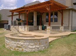 Texas Fire Pit by Outdoor Patio With Pergola And Fire Pit Option Yelp
