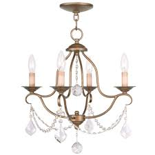 nickel mini chandeliers hanging lights home depot