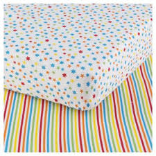 Tesco Nursery Bedding Sets Multicolour Cot Bed Fitted Sheet By Lulu And Nat Normal