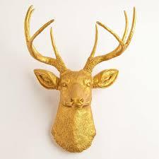 faux taxidermy deer wall décor
