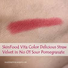Shades Of Red Color Skinfood Vita Color Delicious Straw Velvet No 1 Sour Pomegranate