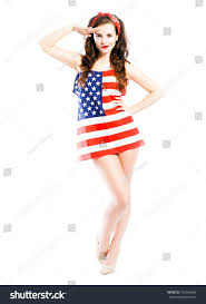 American Flag Bed In A Bag Pin Wrapped American Flag Saluting Stock Photo 193964966