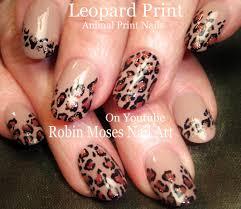 robin moses nail art leopard print nails design tutorials