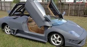 lamborghini diablo roadster replica for sale yes someone tried to turn a porsche boxster in lamborghini