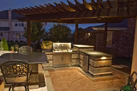 Outdoor Kitchen Lighting Ideas Lighting For Outdoor Kitchen Sacharoff Decoration