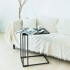 amazon com c hopetree sofa side table metal snack laptop c shape