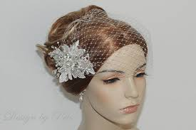 lace fascinator new bridal white lace rhinestone pearls fascinator
