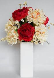artificial flower decorations for home artificial flower arrangement red pink peonies cream