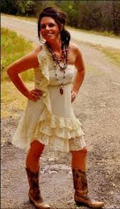 going away dress would look great with cowboy boots wedding