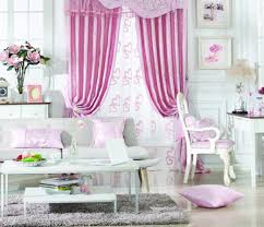 Pink Living Room by Beautiful Living Room Curtain Ideas Designoursign
