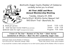 annual membership meeting jasper county chamber of commerce