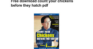 Count Your Chicken Before They Hatch Pdf Free Count Your Chickens Before They Hatch Pdf Docs