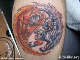 and tiger ying yang design