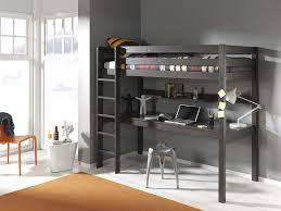 lit mezzanine bureau blanc lit surélevé mezzanine adolescent en pin massif maxens coloris