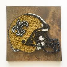custom football team helmet string art new orleans saints