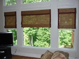 kathy ireland woven wood roman shades with custom edge bindings