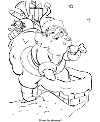 santa sleigh coloring pages printable print