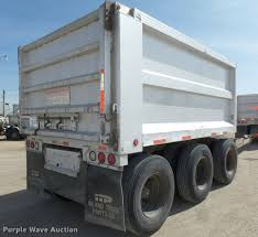 1992 cornhusker 800 end dump pup trailer item da0593 sol