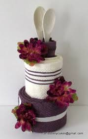 towel cake kitchen towel cake bridal shower gift mothers day gift