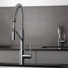 commercial style kitchen faucets kraus kpf 2630ss stainless steel oletto commercial style pre rinse