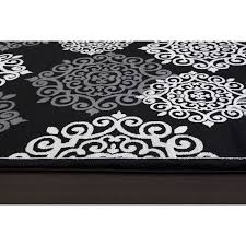 Black White Rugs Modern by Black Area Rug Roselawnlutheran