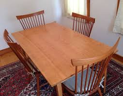Cherry Dining Room Handmade Shaker Cherry Dining Table Custom Made In Vermont