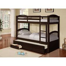 Cameron Twin Over Twin Bunk Bed With Trundle And Drawers Free - Twin over twin bunk beds