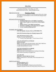 Ware House Resume Resume Objective For Warehouse Worker Regulatory Affairs Resume