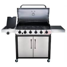 Char Broil Patio Caddie by Char Broil Performance 6 Burner Cabinet Gas Grill 60 000 Btu