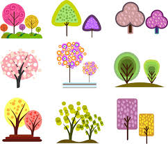 simple tree design element collection free vector in adobe