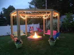 patio designs with pergola and firepit patio decoration