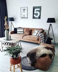 WestwingNL Livingroom Voor Meer Inspiratie Westwingme - Living room design with brown leather sofa