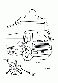 camion on the road coloring page for kids transportation coloring