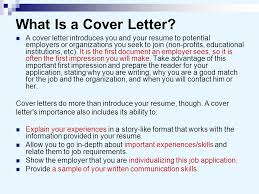 cover letter important cover letters and business letters ppt