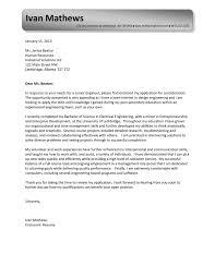 engineering entry level cover letter samples vault com