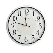 silent wall clocks rhythm plastic pearl white silent wall clock with arabic dial
