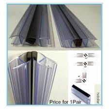 pvc plastic shower screen door water seal strip lining 2m 180 90degree