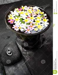 garden ornament with flowers bali stock photo image 8129430