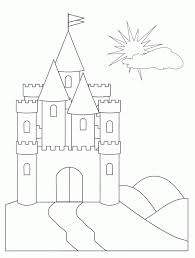 castle coloring pages sun flower pages