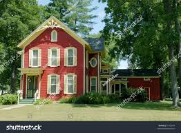 red farm house old farmhouse country stock photo 1566849