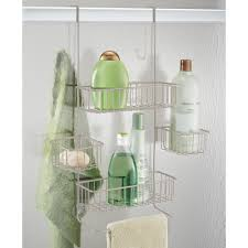 lovely over the door shower caddy in stylish home interior design
